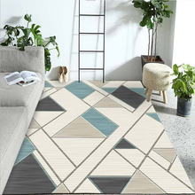 Washable polyester Fabrics Carpet Rug For Living Room Modern Printing Geometric Floor Child Kids Play Mat For Parlor Mat Bedroom