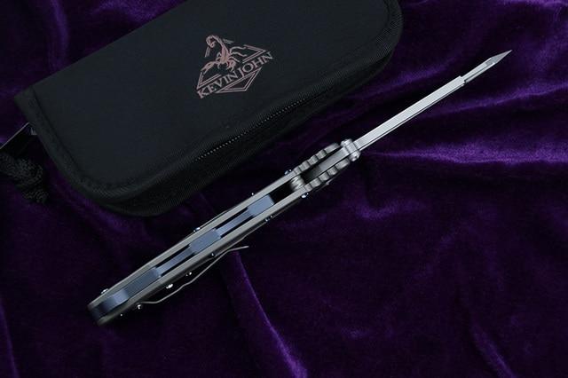 kevin john Delta folding knife S35VN blade titanium handle camping hunting survival pocket Kitchen fruit knives 4