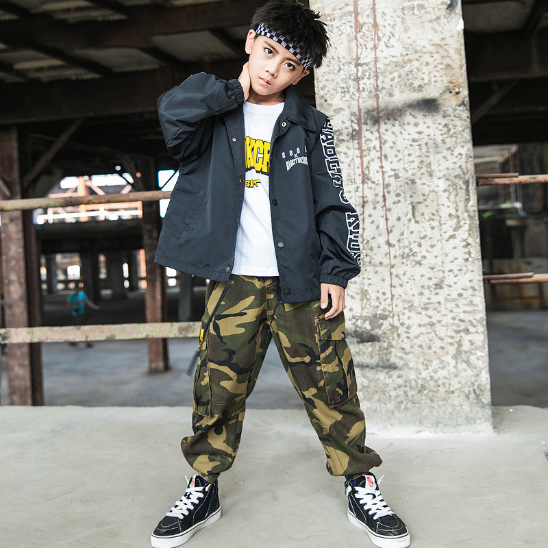 New Children's Hip-hop Clothes Boys And Girls Street Dance Performance Costumes Kids Jazz Dance Clothing Festival Outfit VO459