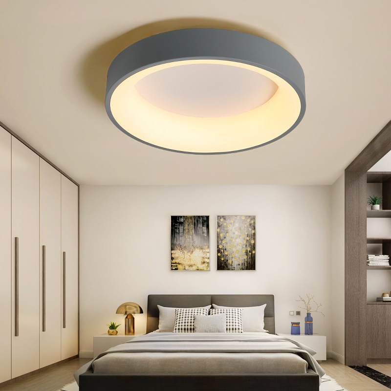 Classical Ceiling Lamp Modern Led Ceiling Lights For Living Room Bedroom Study Room Corridor Grey Or White Color Lighting Light
