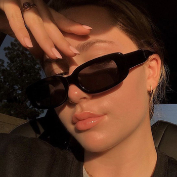 Rectangle Vintage Sunglasses Women