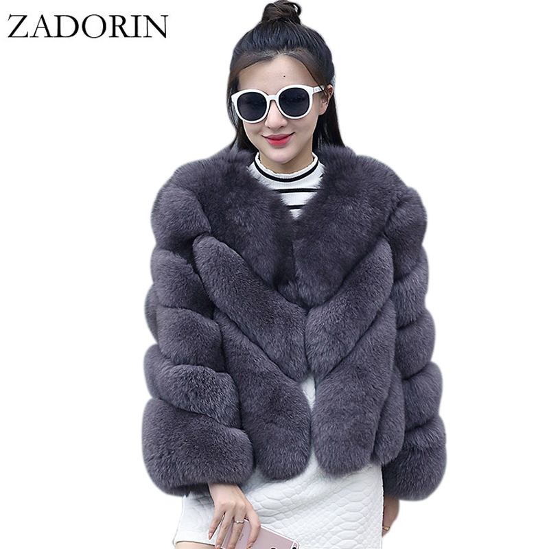 ZADORIN NEW Streetwear Furry Faux Fur Coat Women Plus Size Long Sleeve Winter Coats Ladies Jackets Fourrure Abrigo Mujer