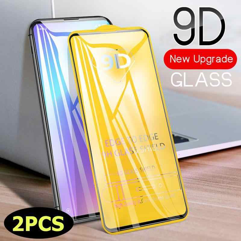 2pcs/lot 9D Curved Screen Protector For Samsung Galaxy A50S A10S M30S A90-5G A10 A70 Tempered Glass Scratchproof Full Cover Film