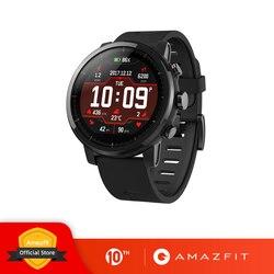 원래 Amazfit Stratos 2 Smartwatch 스마트 시계 블루투스 GPS 칼로리 카운트 심장 모니터 50M 방수