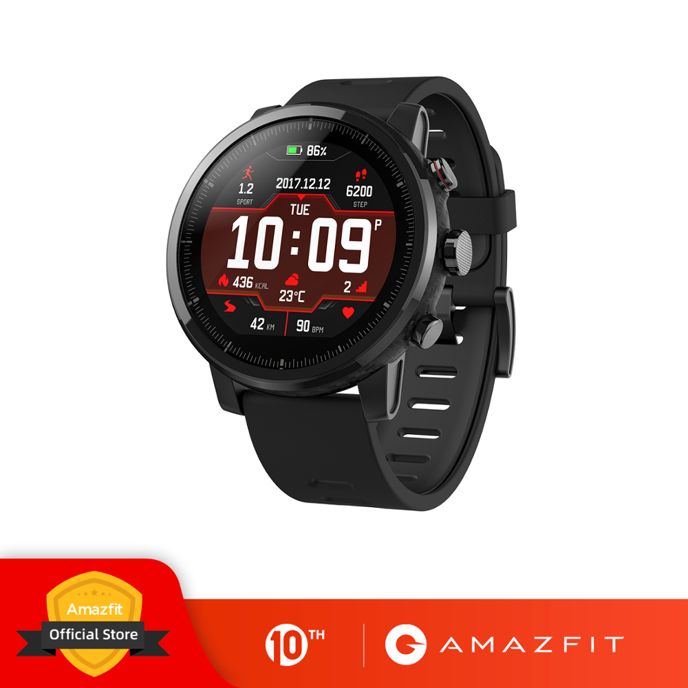 Original Amazfit Stratos 2 Smartwatch Smart Watch Bluetooth GPS Calorie Count Heart Monitor 50M Waterproof