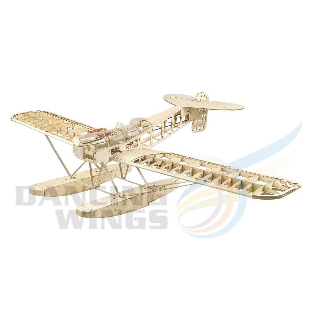 Новая модель радиоуправляемого самолета Balsawood с лазерной резкой, морской самолет, плавучий самолет Hansa-brandenбург W.29, охват крыльев 1400 мм, 55 дюй...