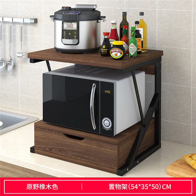Creative New Wood Kitchen Storage Rack Microwave Shelves For Wall Double Layer Spice Metal Microwave Oven Wall Shelf Organizer Storage Holders Racks Aliexpress