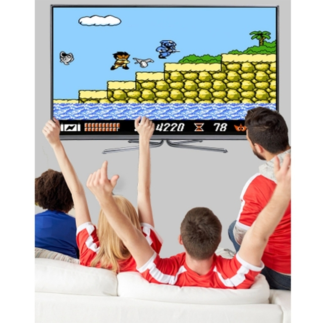 DATA FROG USB Wireless Handheld TV Video Console Built in 600 Classic Games AV Output Family Video Console