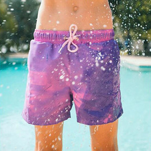 Shorts Swimsuit Bathing Color-Change-Board Summer Pant Quick-Dry Men Beach Magical