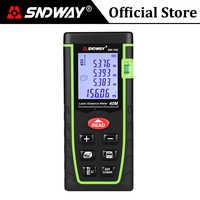 SNDWAY pas cher Laser Distance mètre Mini Laser télémètre Laser ruban télémètre mètre mesure 40M 60M 80M 100M bricolage règle