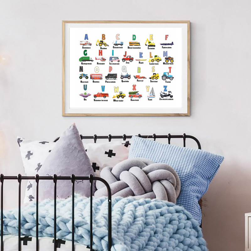 Kids Room Art New Baby Gift Retro Adventure Car Print Hand Drawn Nursery Art Wall Art