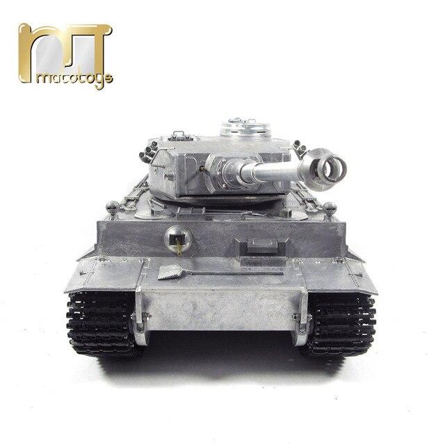 MATO 1220 100% Metal 2.4G zbiornik RC 1 16 niemiecki tygrys 1 podczerwieni bitwa odrzutu baryłkę BB pistolety do Airsoft gotowy do uruchomienia VS Tamiya