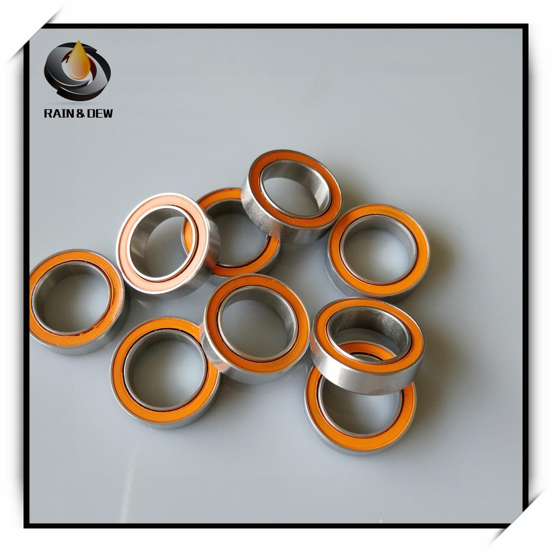 S6902-2RS 15x28x7 mm CERAMIC 440c S.Steel Ball Bearing 6902RS ABEC-5 QTY 4