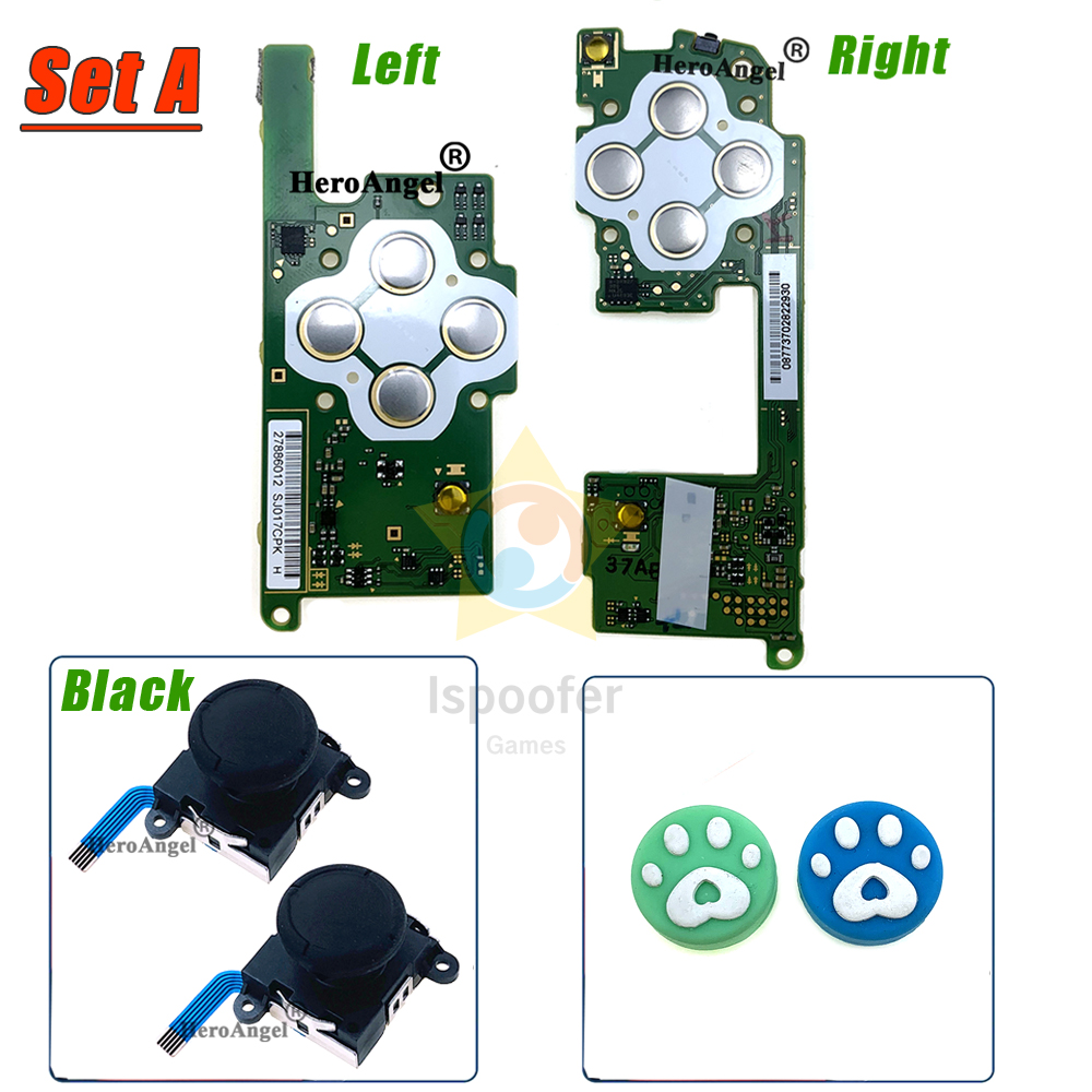For NS Left Right LR motherboard mainboard for nintendo switch joycon LR joystick mother board kit with 3D Analog