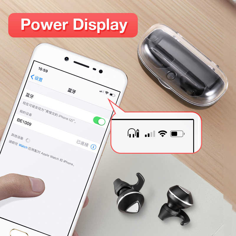 Sanlepus Bluetooth Tai Nghe Không Dây Dual Mini Tai Nghe Nhét Tai TWS 5.0 Tay Nghe Tai Nghe Có Mic Dành Cho Điện Thoại Xiaomi Samsung
