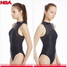 NSA new Triangle conjoined Water polo womens bathing suit Cultivate ones morality show thin waterproof  professional swimwear