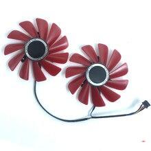 Original 85mm para xfx 470 570 480 4g rx560 rx470d rx570 rs rx580 rs ventilador de refrigeração FD10U12S9-C 4pin pc placa vídeo