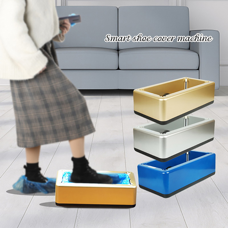 Shoe Cover Dispenser Automatic Shoes Cover Machine Hand Free Household Disposable Booties Maker Shoe Film Machine Smart
