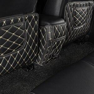 Image 5 - Rear Seat Anti Kick Pad For Toyota RAV4 2014 2015 2016 Rear Seats Cover Back Armrest Protection Mat For Toyota RAV4 2017 2018