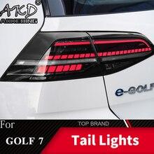 Автомобильный Стайлинг задний фонарь для VW Golf 7 2013- Golf7 Mk7 задние фонари задние фары DRL динамический сигнал тормоза авто аксессуары