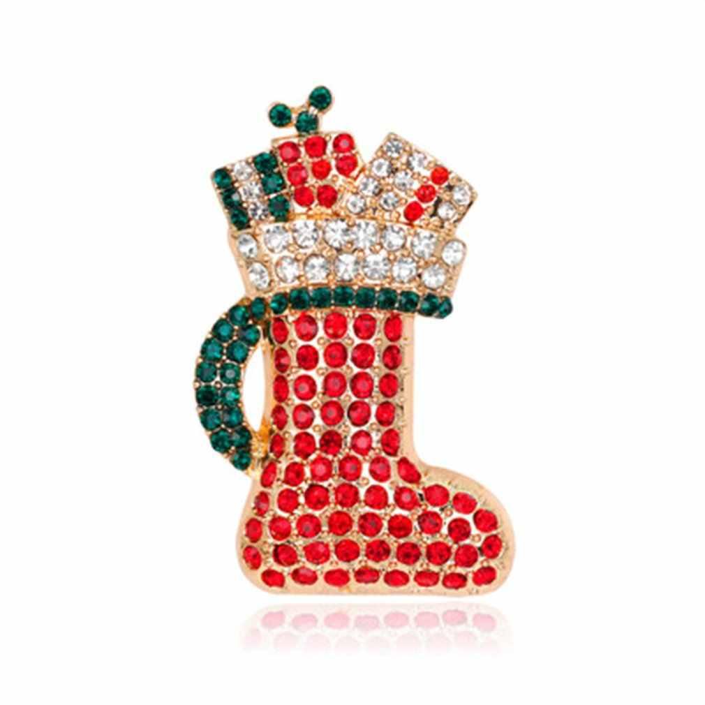 عيد الميلاد شجرة الأسهم سانتا كلوز الغزلان بروش عيد الميلاد جلجل الغزلان المينا دبوس المجوهرات هدية للنساء فتاة طفل الفتيان الأطفال مجوهرات