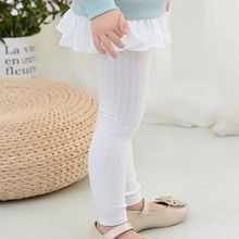 Buy Kid Knitted Leggings Baby Girl Cotton Vertical Winter Pants Solid Color Trouser DXAD directly from merchant!
