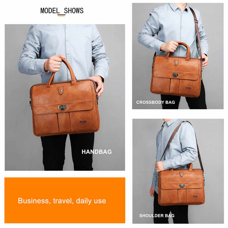 JEEP buuluo marka duży rozmiar 15 cali torby na laptop biznes torba podróżna aktówka biuro biznes torba męska dla A4 pliki dużego ciężaru torba