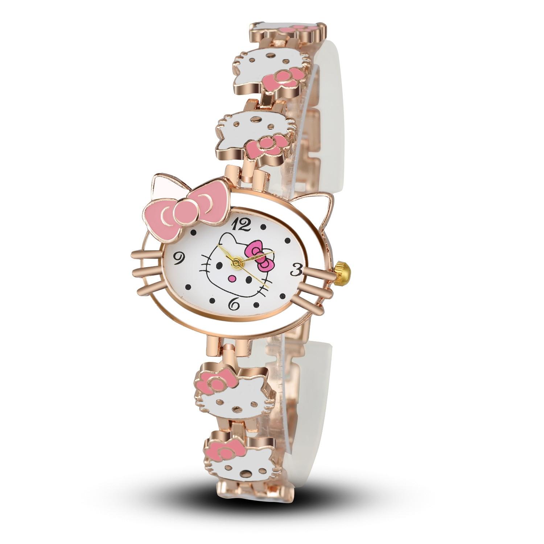 Hello Kitty Watch For Kids Children Girls Cute Cartoon Watch Quartz Bracelet Wrist Watches Relogio Infantil Montre Enfant Gifts