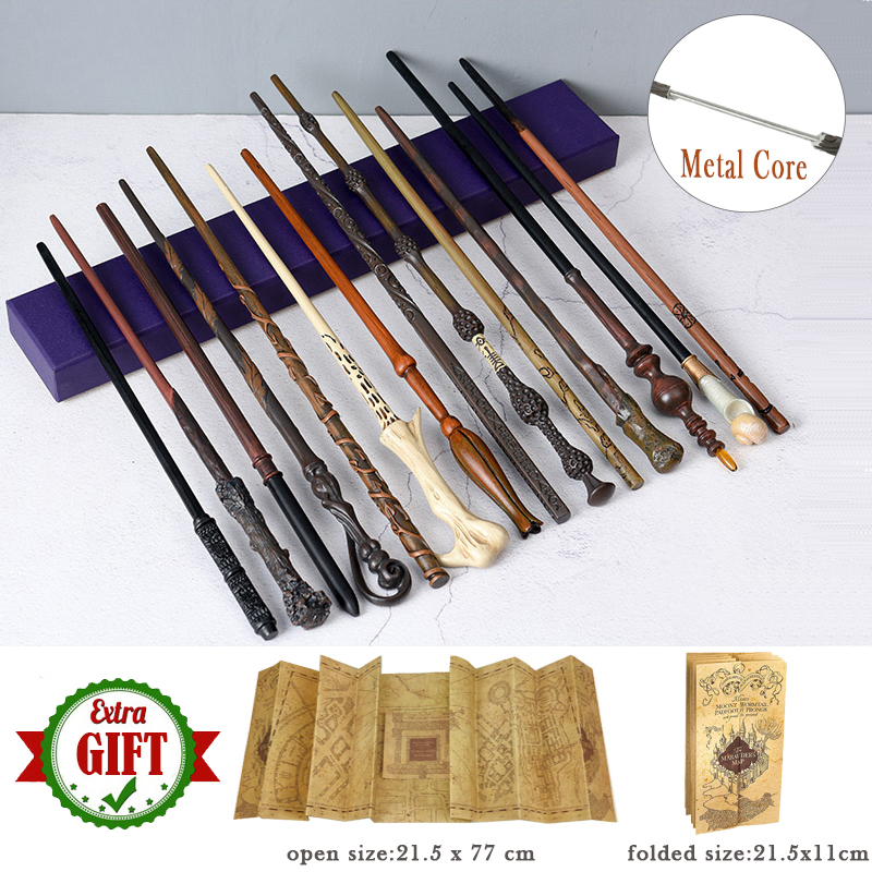 31 Kinds Of Potter Magic Wand With Gift Box Packing Metal-Core Magic Wand For Children Cosplay Harried Magical Wand With Bonus