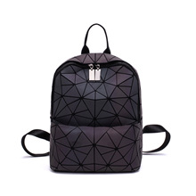 цены на Women Backpack Luminous Geometric Plaid Men Backpacks For Teenage Girls Bagpack Bag Holographic Backpack School Mochila  в интернет-магазинах