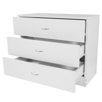 FCH Modern Simple 3-Drawer Dresser White  FOR Family Room Bedroom Living Home Office
