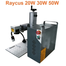 split 30W Raycus Optical Fiber Laser Marking Machine 20W Engraving Stainless Steel Metal