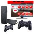 Беспроводные игровые консоли 4K HD 2,4G 10000 игр 64 Гб ретро мини классические игровые геймпады ТВ семейный контроллер для PS1/GBA/MD