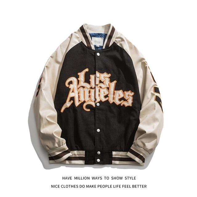 Chaqueta de béisbol bordada para hombre y mujer, chaqueta de béisbol bordada para primavera y otoño, Unisex, estilo hip hop para parejas, 2021 2