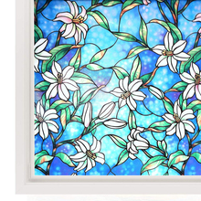Funlife Decorative Privacy Window Film Stained Glass Cling No-Glue Self Static for Home Bathroom Office