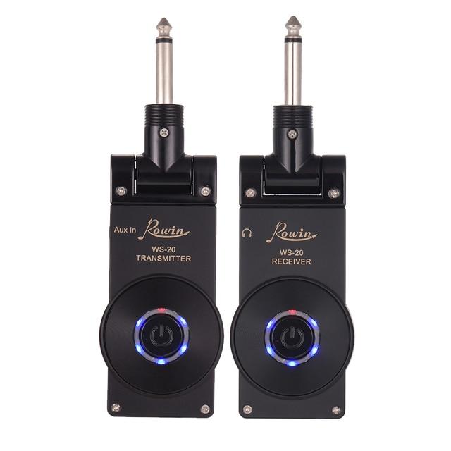 Rowin WS 20 2.4G אלחוטי חשמלי גיטרה משדר מקלט סט 30 מטרים שידור טווח עם USB טעינת כבל 4 צבעים