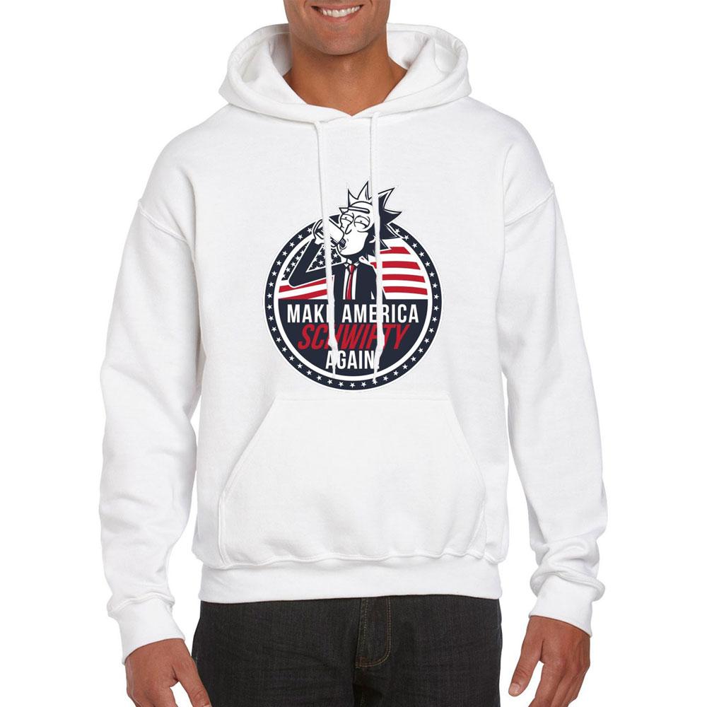 2019 New Winter Autumn Hooded  Men Hoodie Rick And Morty Funny Homens Hoodies Sweatshirt Mens Casual Cartoon Rick Hoody Hip Hop