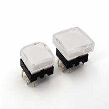 Honyone TS26 серия квадратный со светодиодным мгновенным SPST PCB мини-кнопочный тактовый переключатель