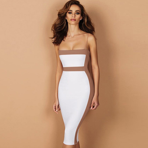 Image 2 - Seamyla Sexy Bandage Dresses Women 2020 New Sleeveless Celebrity Party Dress Elegant Bodycon Club Wear Summer Dress Vestidos