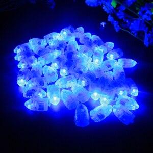 Image 4 - 100 Cái/lốc LED Flash Đèn Bóng Đèn Lồng Đèn Giấy Bóng Trắng Vàng Hoặc Nhiều Màu Cho Tiệc Cưới