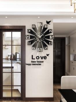 European-Style Creative Clock Wall Clock Living Room Cool Modern Simple Clocks Home Decor Wall Watch Mute Decorative Atmosphere