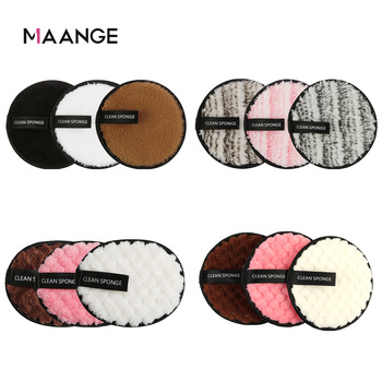 MAANGE Soft Fiber Makeup Remover Puff Facial Wash Puff Double Sided Makeup Sponge Easy to Use Beauty Make Up Remover Tools 1