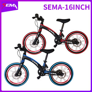Image 1 - 16 inch SEMA carbon childrens bicycle super light fit 4 years to 9 years boy and girl bike carbon handlebar carbon seat post