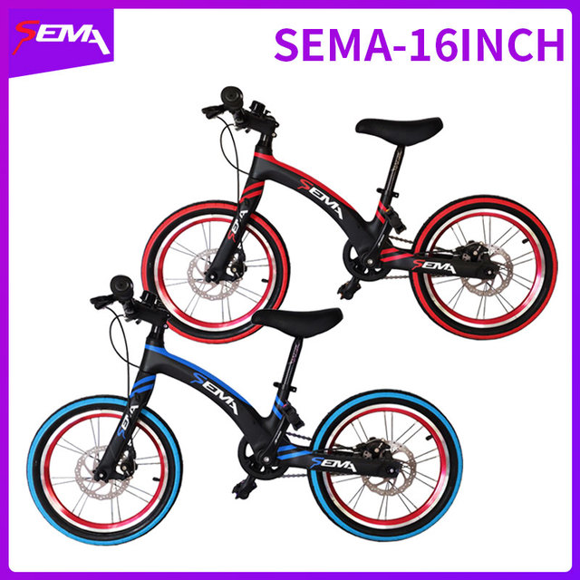16 inch SEMA carbon childrens bicycle super light fit 4 years to 9 years boy and girl bike carbon handlebar carbon seat post