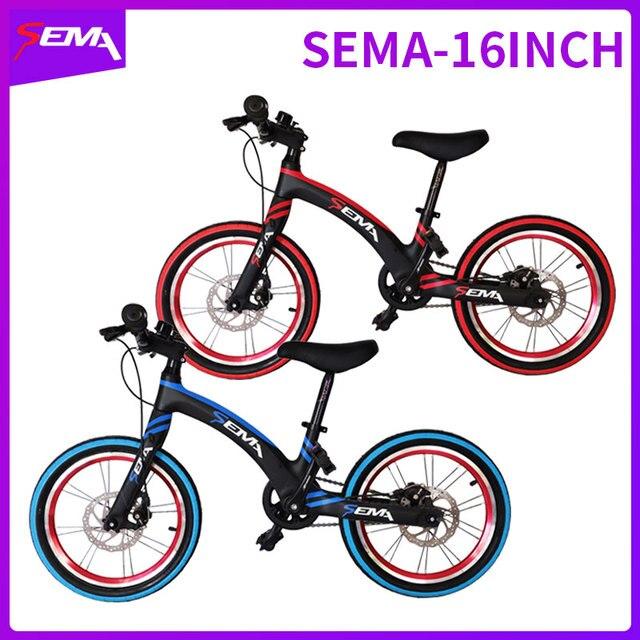 16 pouces SEMA carbone vélo pour enfants super léger ajustement 4 ans à 9 ans garçon et fille vélo carbone guidon carbone tige de selle