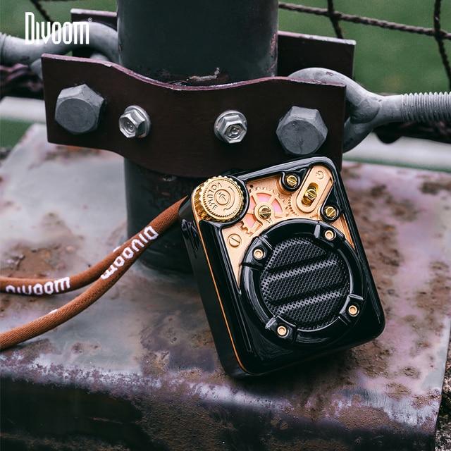 Divoom אספרסו נייד Bluetooth אלחוטית רמקול עם FM רדיו ותמיכה 32G מיקרו TF כרטיס עם מתנה חבילה עבור ילדה