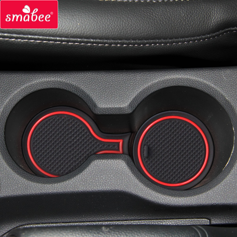Gate Slot Mats For 2017 Hyundai Solaris 2 Interior Door Pad/Cup Dust Mats Water Coaster Non-slip Red/blue/white 15pcs