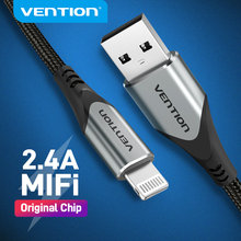 Vention MFi USB Cable for iPhone 12 Max 11 Xs X 8 Plus USB Charge for iPhone 12 Mini 2.4A Fast Charging USB Charger Data Cable