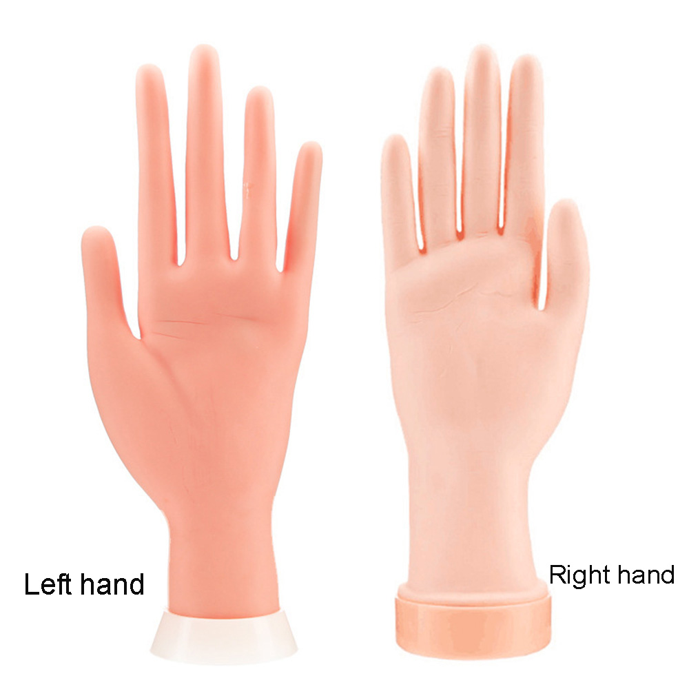 Model Hand Nail Art Training Fake Hands Practice For Manicure Rubber Movable