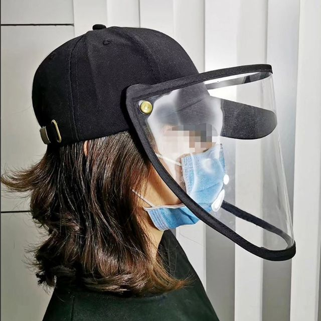 Unisex Anti-Spitting Splash Protective Baseball Cap Anti-Fog Saliva Dustproof Detachable Face Shield Mask Adjustable Hat 1